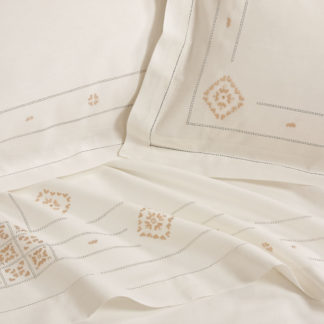 lenzuola matrimoniali ricamate punto antico toscano
