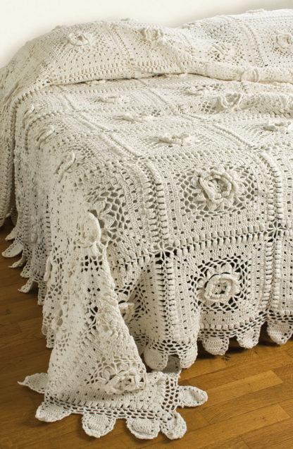 copriletto matrimoniale crochet cotone