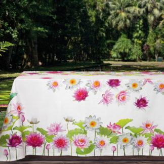 tovaglia raso cotone fiori