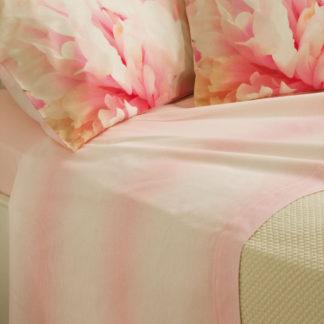 lenzuola matrimoniali peonia rosa