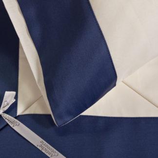 lenzuola matrimoniali balza raso cotone bianche blu eleganti
