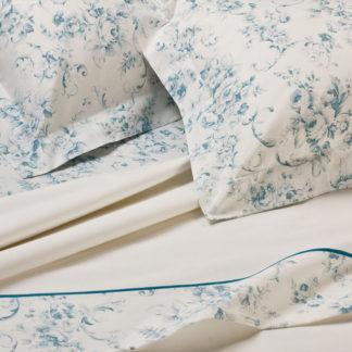 lenzuola matrimoniali rose blu