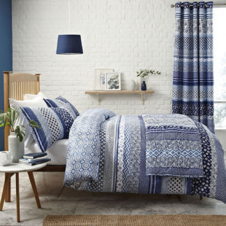 lenzuola matrimoniali blu azulejos
