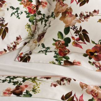 lenzuola matrimoniali cotone fantasia fiori orchidee primule