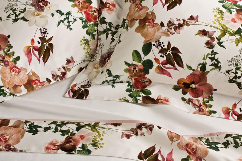 Lenzuola Matrimoniali Con Fiori.Lenzuola Matrimoniali Fiori Orchidee Primule Familia Service