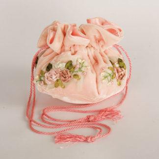 portabijoux velluto rosa