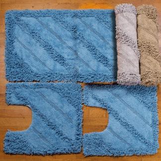 set 3 tappeti bagno