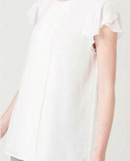 blusa bianca chiffon ragno