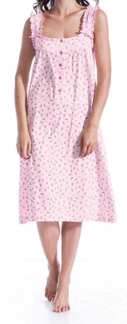 camicia notte fiorellini rosa