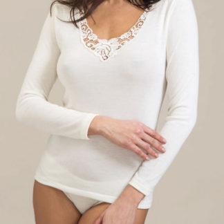 maglia intima donna manica lunga lana seta madiva