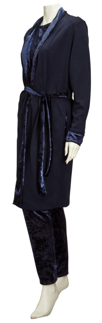 vestaglia donna velluto blu