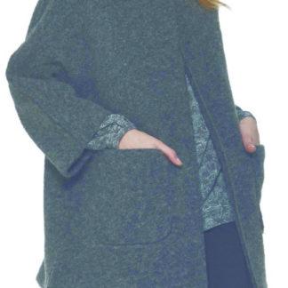 giaccone donna grigio melange ragno