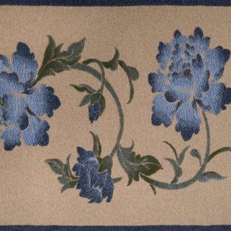 coperta plaid fiori blu