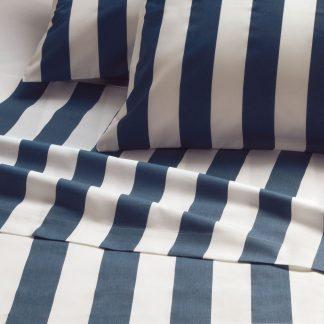 lenzuola matrimoniali righe blu