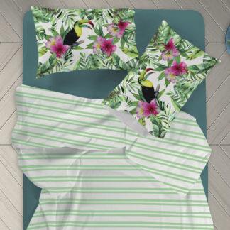 completo lenzuola tropicali