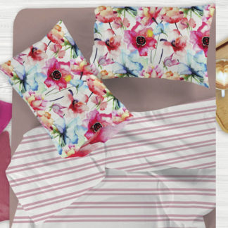lenzuola matrimoniali fiori