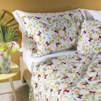 lenzuola matrimoniali fiori farfalle caleffi