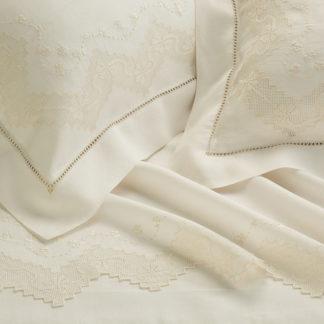 lenzuola matrimoniali lino ricamate sfilato aragona