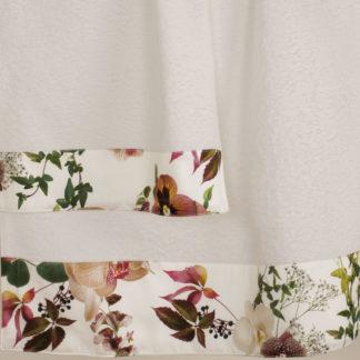 asciugamani spugna orchidee primule