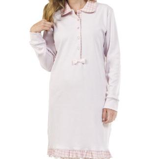 camicia notte quadretti rosa