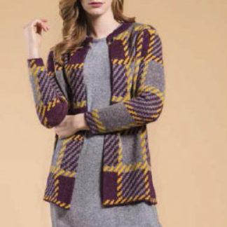 giacca donna scozzese
