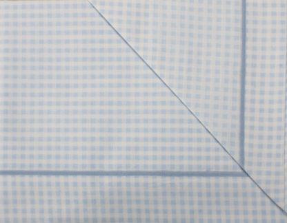 lenzuola culla lettino quadretto azzurro