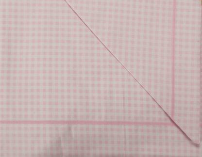 lenzuola culla lettino quadretto rosa