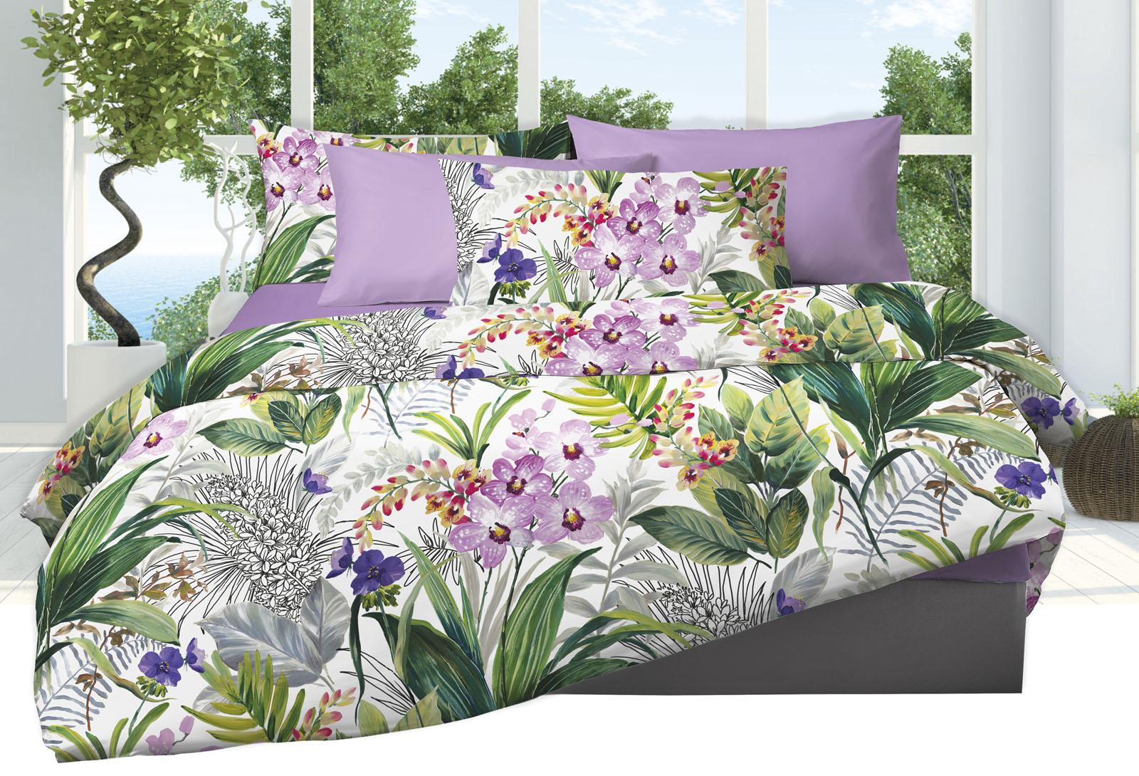 Lenzuola Matrimoniali Fiori.Lenzuola Matrimoniali Fiori Orchid Familia Service