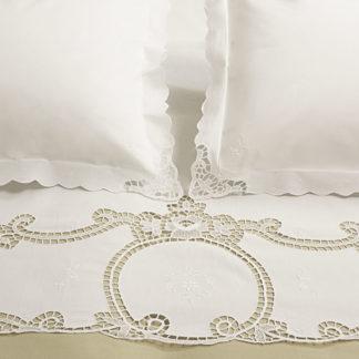 lenzuola matrimoniali ricamate reticella