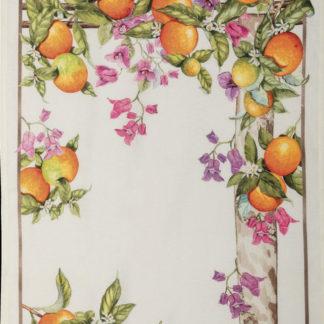 strofinaccio arance tessitura toscana telerie
