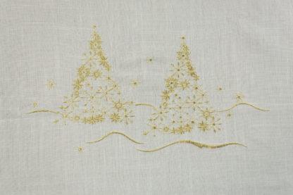 tovaglia natalizia abeti bianca
