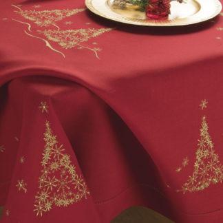 tovaglia natalizia abeti rossa