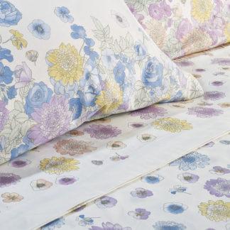 lenzuola fiori caleffi