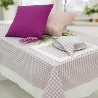 tovaglia quadretti rosa