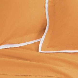 lenzuola matrimoniali arancione