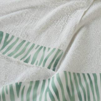 asciugamani spugna zebrati