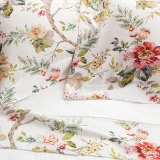 lenzuola matrimoniali cotone fantasia floreale