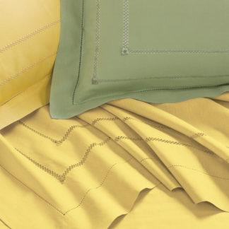 lenzuola matrimoniali lino cotone ricamate