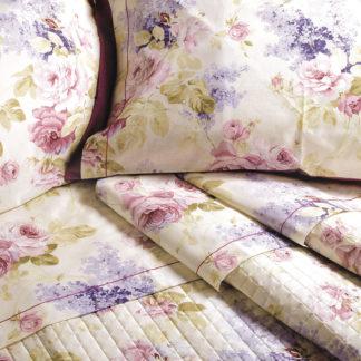lenzuola matrimoniali rose glicini