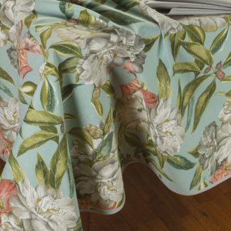 tovaglia da tavola fantasia flora con tovaglioli