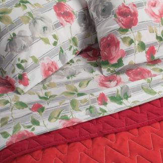 lenzuola matrimoniali cotone fantasia rose