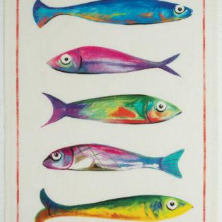 canovaccio strofinaccio lino pesci tessitura toscana telerie