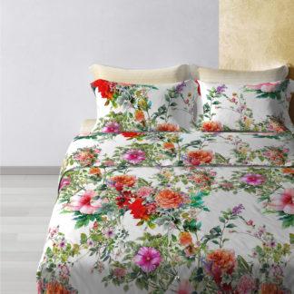 lenzuola matrimoniali copriletto cotone fantasia floreale