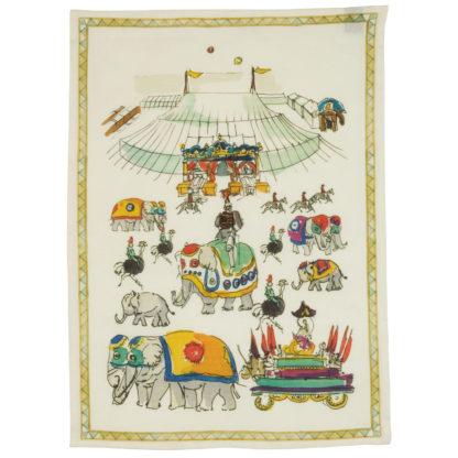 canovaccio strofinaccio circus elefante tessitura toscana telerie