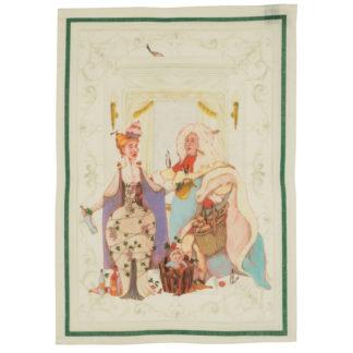 canovaccio strofinaccio noblesse verde tessitura toscana telerie