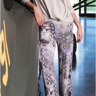pantaloni donna pitonato