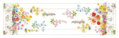 striscia runner floralia tessitura toscana telerie