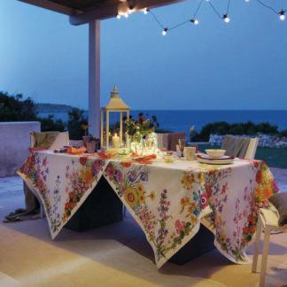 tovaglia floralia tessitura toscana telerie