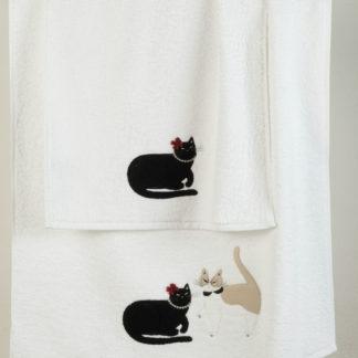 asciugamani spugna gatti maryhome