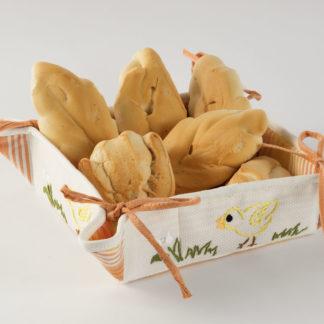 cestino porta pane ricamato